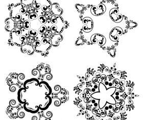 Various patterns floral ornament vector