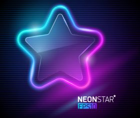 Vector illustration neon colorful star