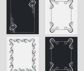 Vertical frames line and flower vector