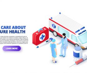 We care about your health concept illustration vector