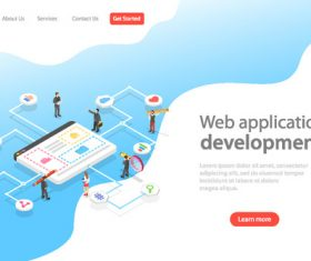 Web application development concept illustration vector