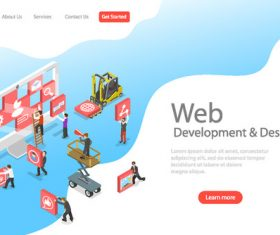 Web development concept illustration vector