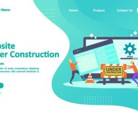 Website construction illustration vector