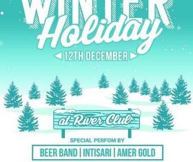 Winter Holiday Party PSD Flyer Template