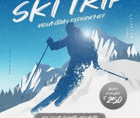 Winter Ski Flyer Psd Template