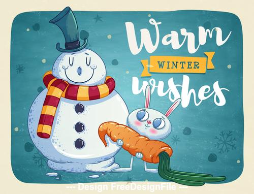 Winter cartoon illustration vector
