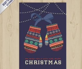 Wooden background christma postcar vector
