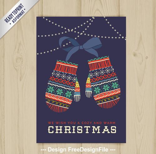 Wooden background christma postcar vector