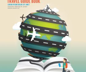 World of travel guide book vector