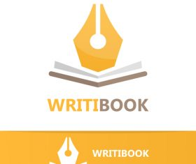 Writing logo vector