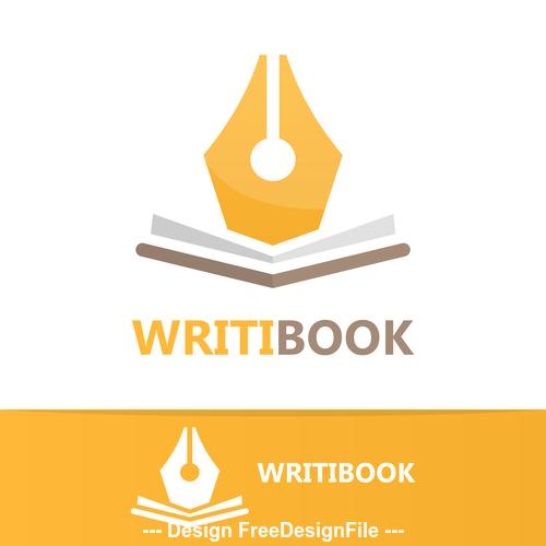 Writing logo vector