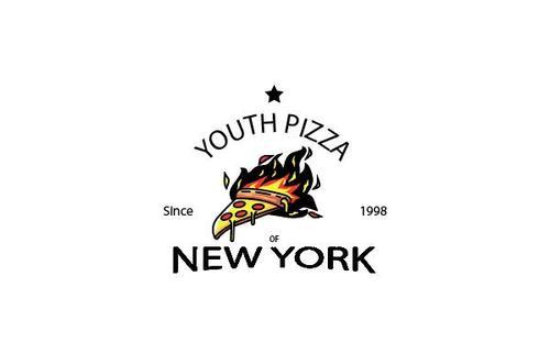 Youth pizza mascot esport logo vector