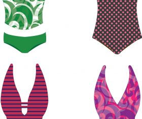 Women Swimsuits & Bikinis vector