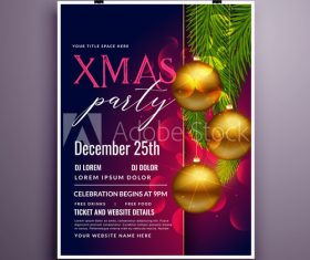 2020 Christmas cover flyer template design vector
