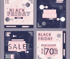 2020 black friday promotion flyer vector
