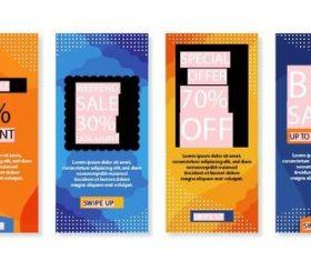 2020 color business promotion flyer vector