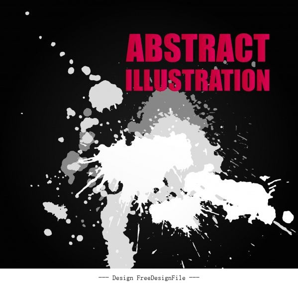 Abstract background black white grunge vector