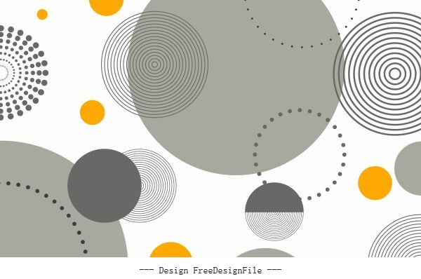 Abstract background flat circles vector