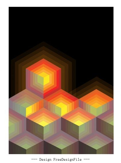 Abstract polygonal light effect delusion vector background