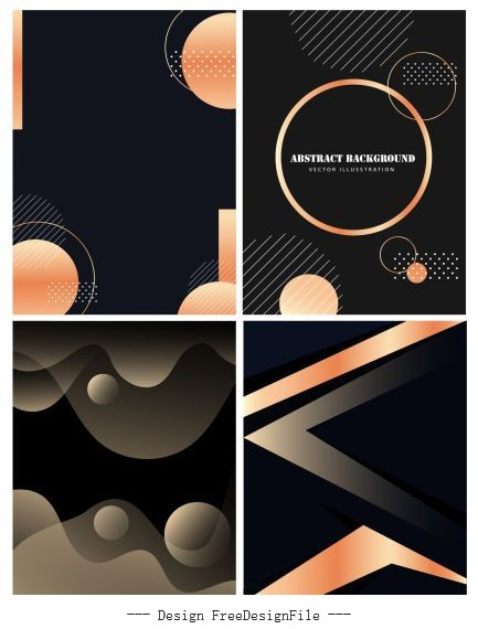 Abstract background templates dark vector