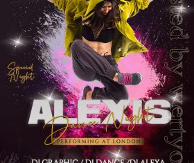 Alexis Dance Party Poster and Flyer PSD Template
