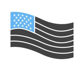 American flag Icons vector