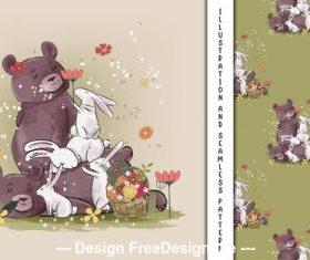 Animal cartoon decorative poster design vector