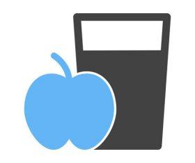 Apple Juice Icons vector