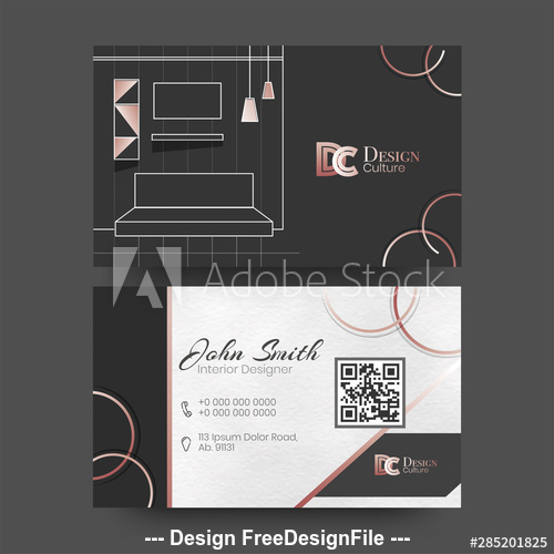 Architectural design business cards vector