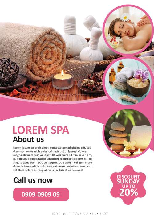 Aromatherapy Spa Template flyer vector