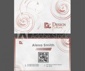 Art business cards design vector