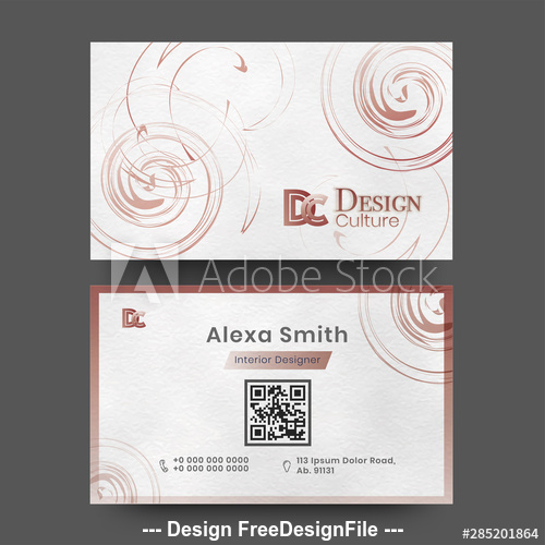 Art business cards design vector