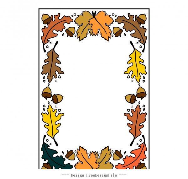 Autumn frame vector