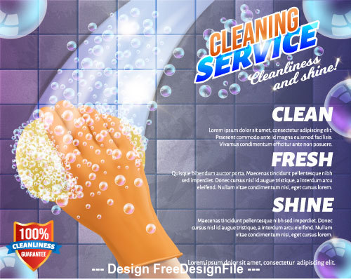Background home cleaning vector