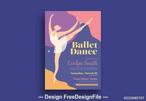 Ballet dance flyer vector