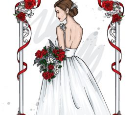Beautiful Bride wedding vector
