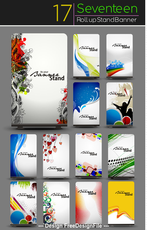 Beautiful card banner vector