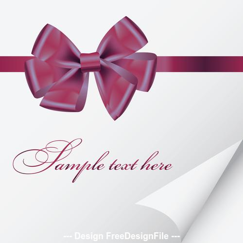 Beautiful ribbon knot vector
