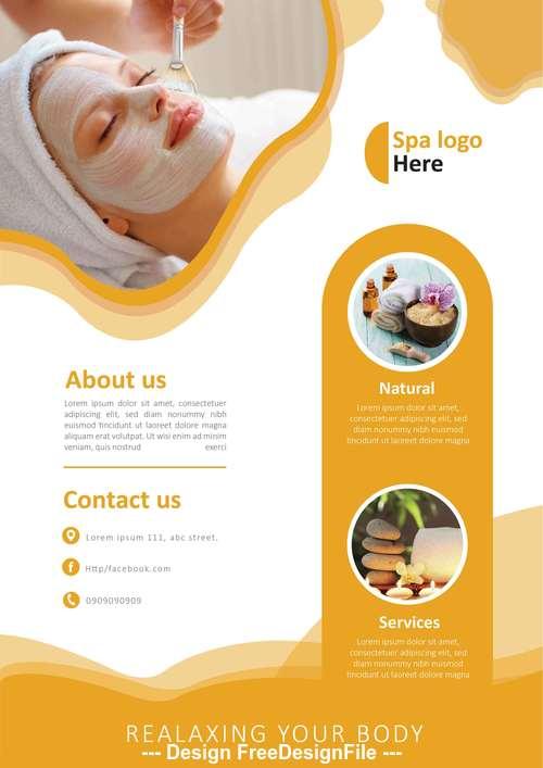 Beauty Spa template flyer vector