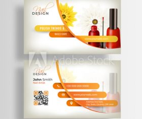 Beauty salon business card design vector