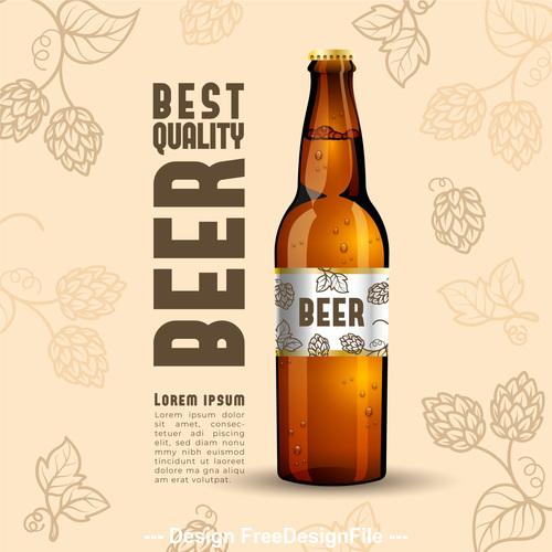 Best quality beer vector