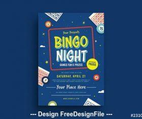 Bingo night flyer vector