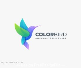 Bird colorful gradient color logo template vector