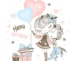 Birthday cartoon illustration vector