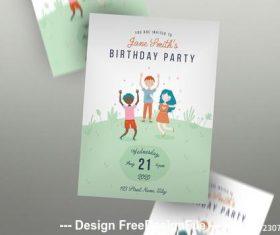 Birthday invitation flyer vector