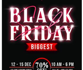 Black Friday Promotion Flyer PSD Template Design