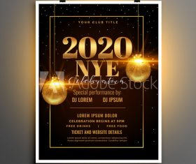 Black and gold cover party flyer template design vector