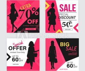 Black friday discount poster design vector