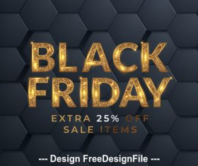 Black friday extra off poster vector