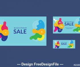 Black friday sale social media cover vector